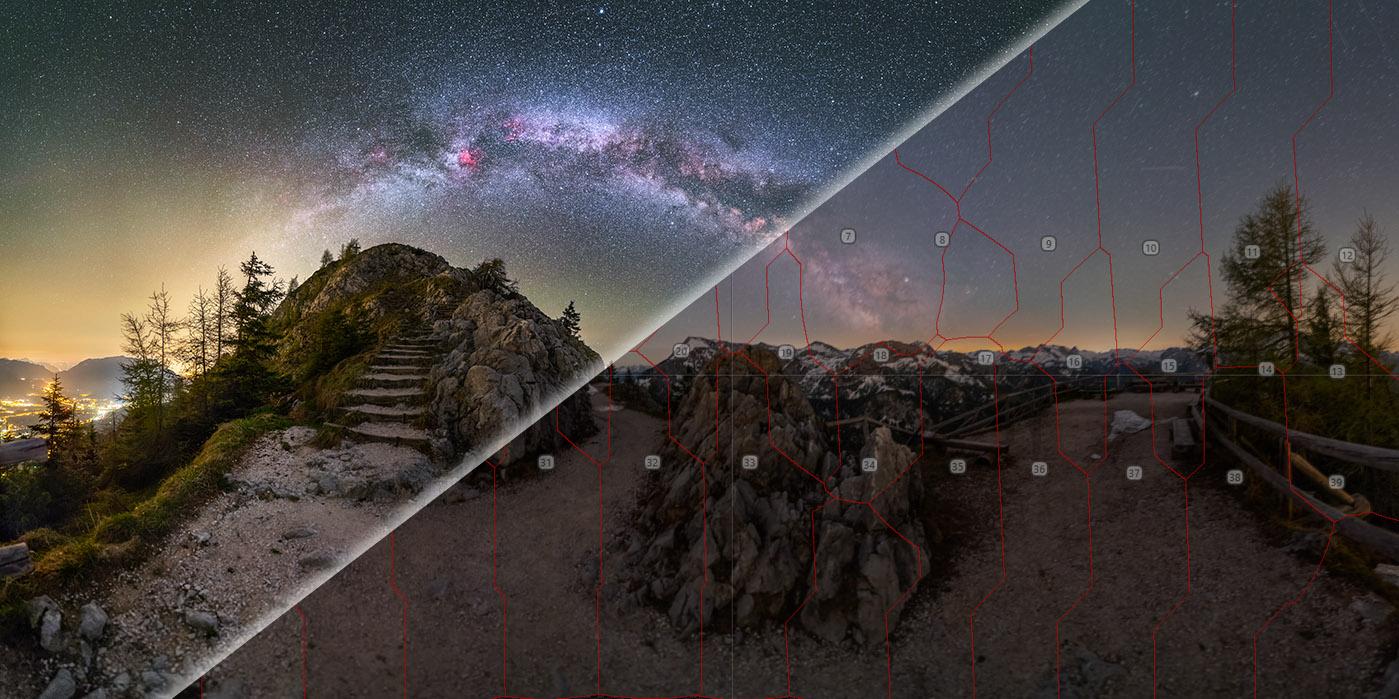 Bildbearbeitung Astrofotografie Milchstraße